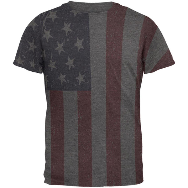 4th of July American Flag Distressed Men's Soft T-Shirt