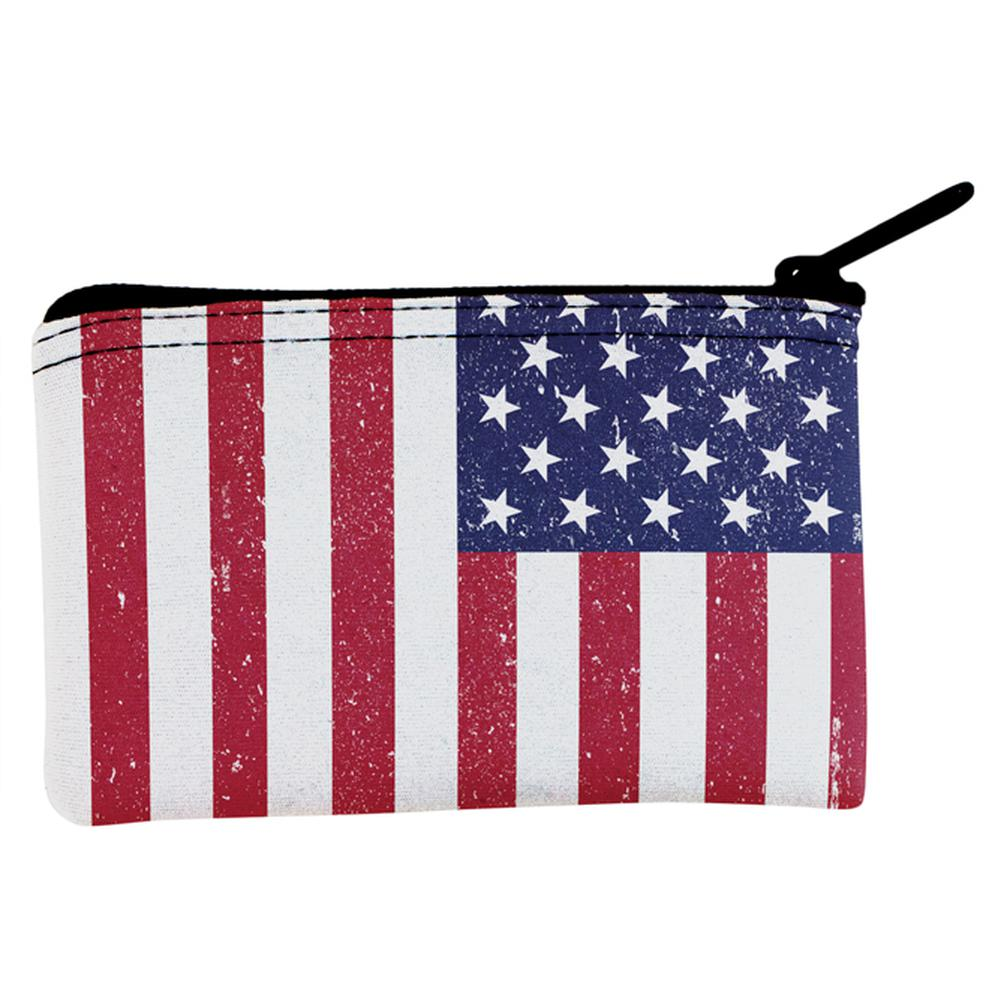 4th of July American Flag Distressed Coin Purse