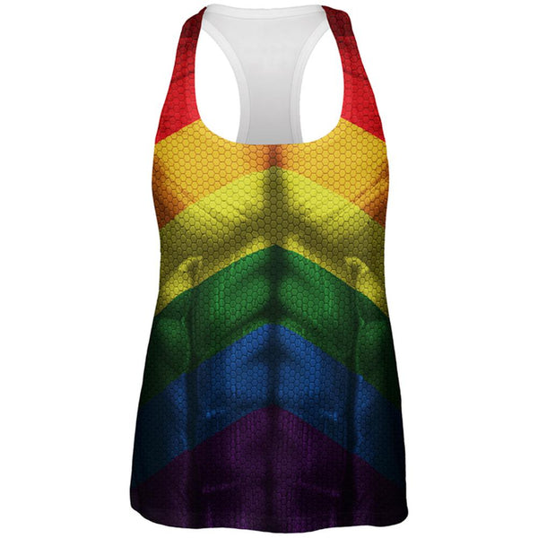 LGBT Gay Pride Superhero Costume All Over Womens Work Out Tank Top