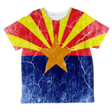 Arizona Vintage Distressed State Flag All Over Toddler T Shirt