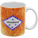 Arkansas Vintage Distressed State Flag All Over Coffee Mug
