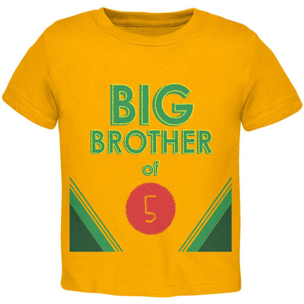 Crayon Big Brother of 5 Toddler T Shirt