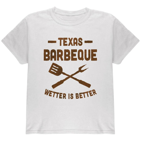 Texas Barbeque Wetter is Better Youth T Shirt