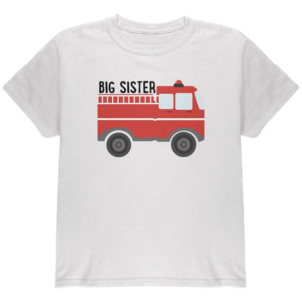 Big Sister Fire Truck Youth T Shirt