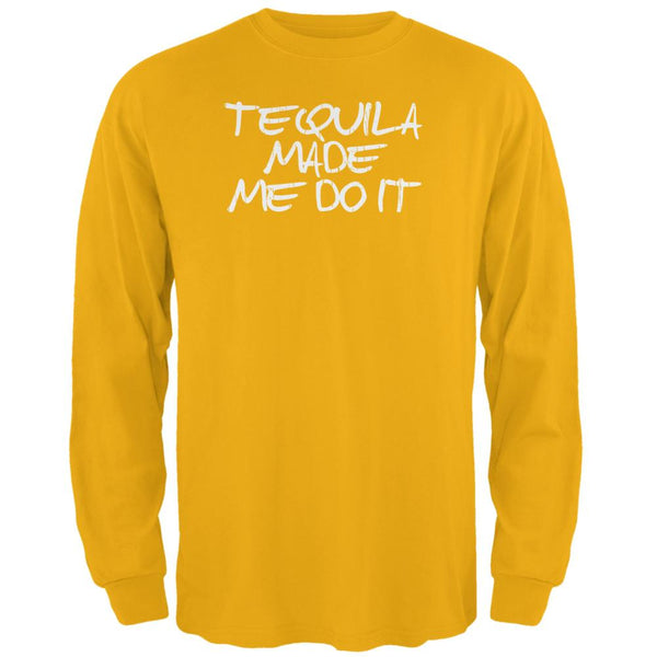 Cinco de Mayo Tequila Made Me Do It Mens Long Sleeve T Shirt