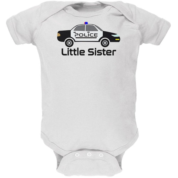 Little Sister Police Car Soft Baby One Piece