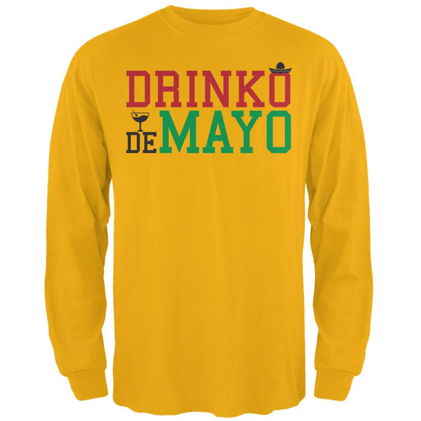 Cinco De Mayo - Drinko de Mayo Mens Long Sleeve T Shirt