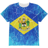 Delaware Vintage Distressed State Flag All Over Youth T Shirt