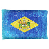 Delaware Vintage Distressed State Flag Pillow Case