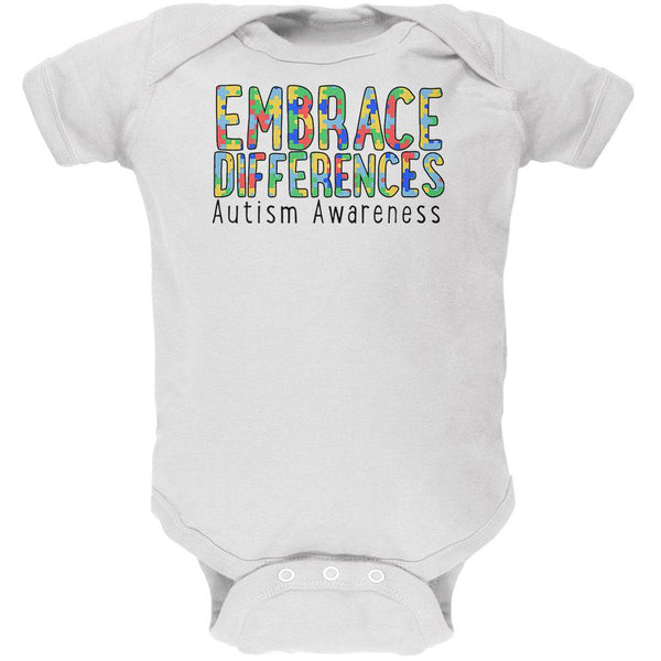Autism Awareness Embrace Differences Soft Baby One Piece