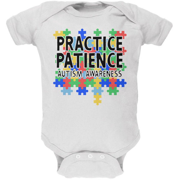 Autism Awareness Practice Patience Soft Baby One Piece