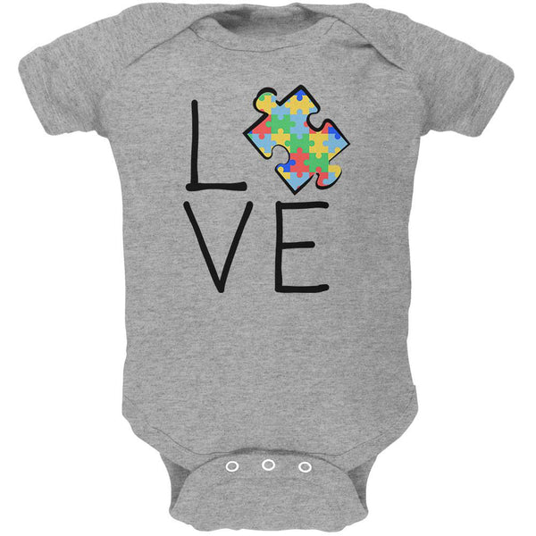 Autism Awareness Love Puzzle Piece Soft Baby One Piece