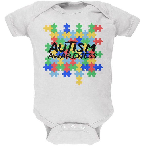Autism Awareness Puzzle Pieces Soft Baby One Piece