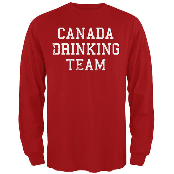 Canada Drinking Team Mens Long Sleeve T Shirt