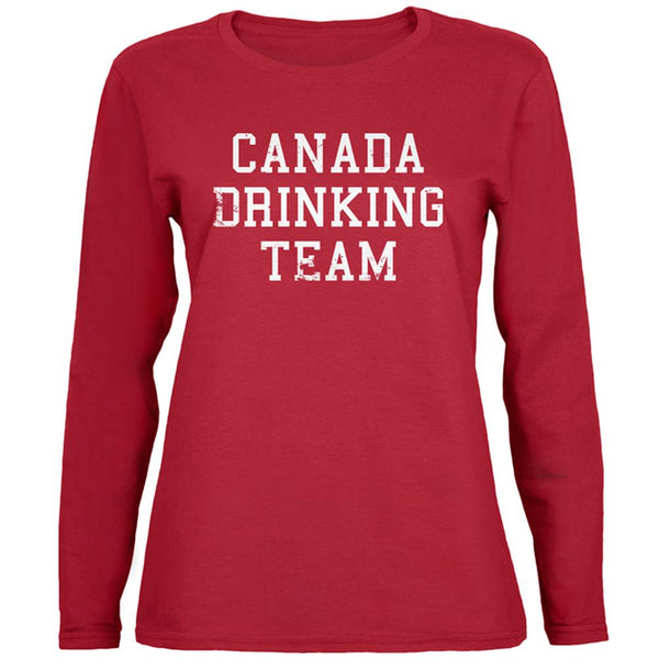 Canada Drinking Team Womens Long Sleeve T Shirt