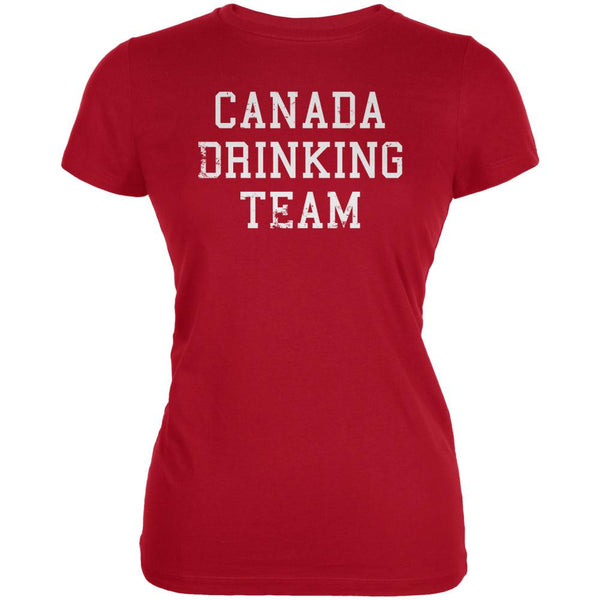 Canada Drinking Team Juniors Soft T Shirt