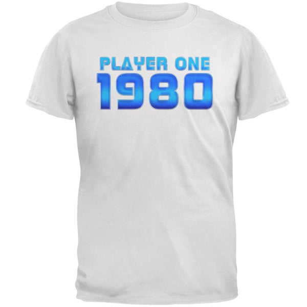 1980 Player One Birthday Mens T Shirt
