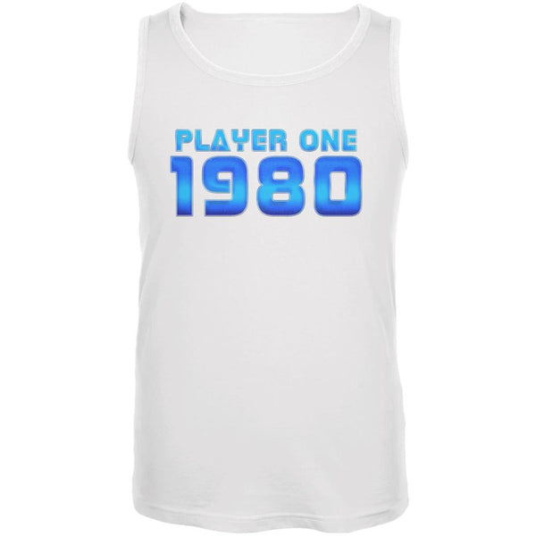 1980 Player One Birthday Mens Tank Top