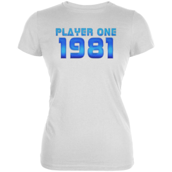 1981 Player One Birthday Juniors Soft T Shirt