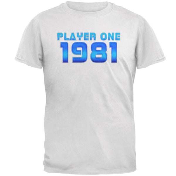 1981 Player One Birthday Mens T Shirt