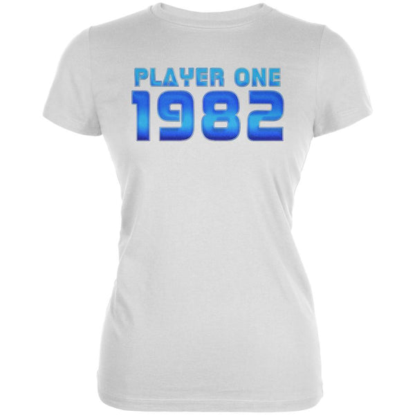 1982 Player One Birthday Juniors Soft T Shirt