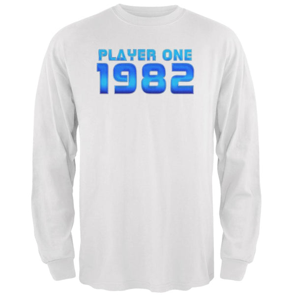 1982 Player One Birthday Mens Long Sleeve T Shirt