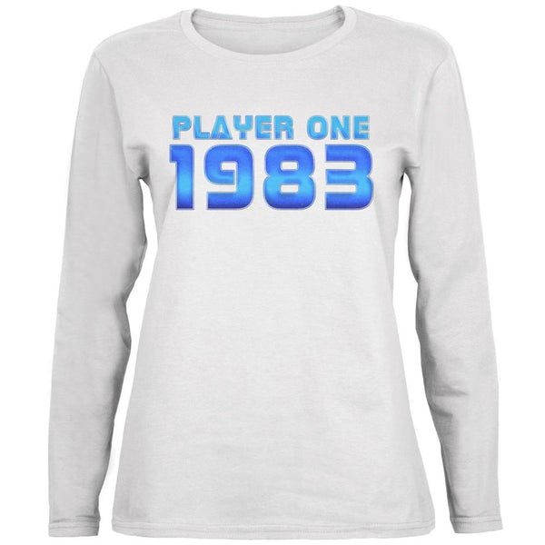 1983 Player One Birthday Ladies' Relaxed Jersey Long-Sleeve Tee