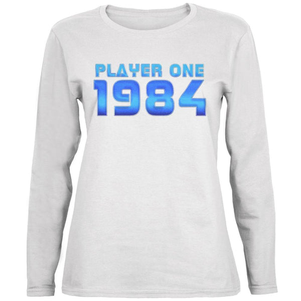 1984 Player One Birthday Ladies' Relaxed Jersey Long-Sleeve Tee