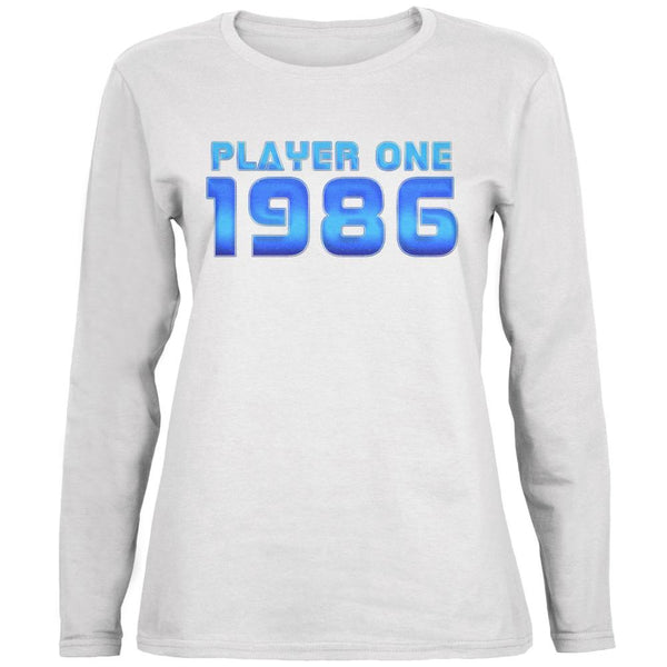 1986 Player One Birthday Ladies' Relaxed Jersey Long-Sleeve Tee