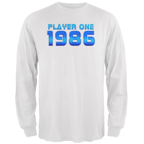 1986 Player One Birthday Mens Long Sleeve T Shirt