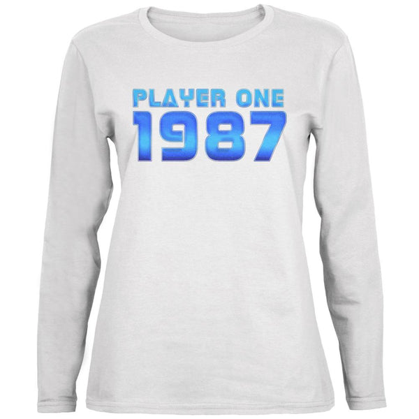 1987 Player One Birthday Ladies' Relaxed Jersey Long-Sleeve Tee