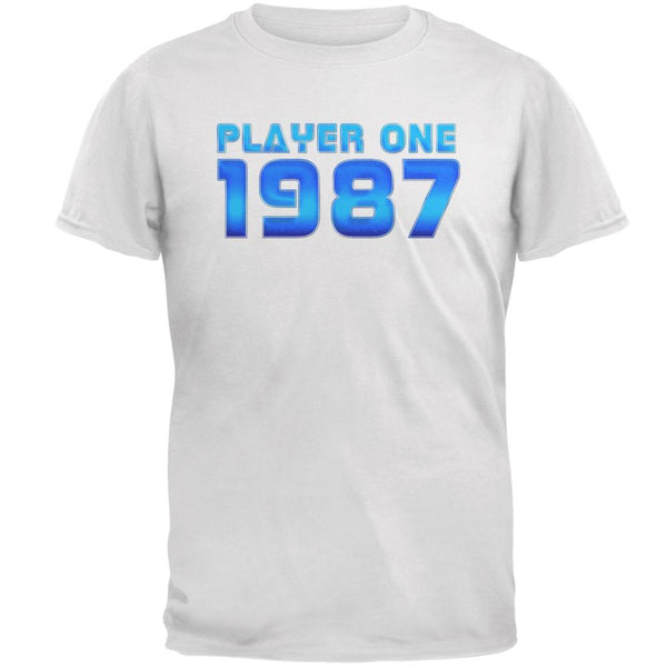 1987 Player One Birthday Mens T Shirt