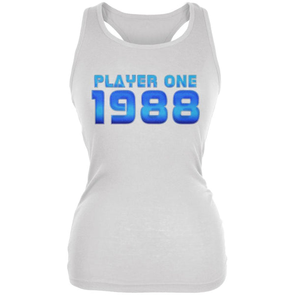 1988 Player One Birthday Juniors Soft Tank Top