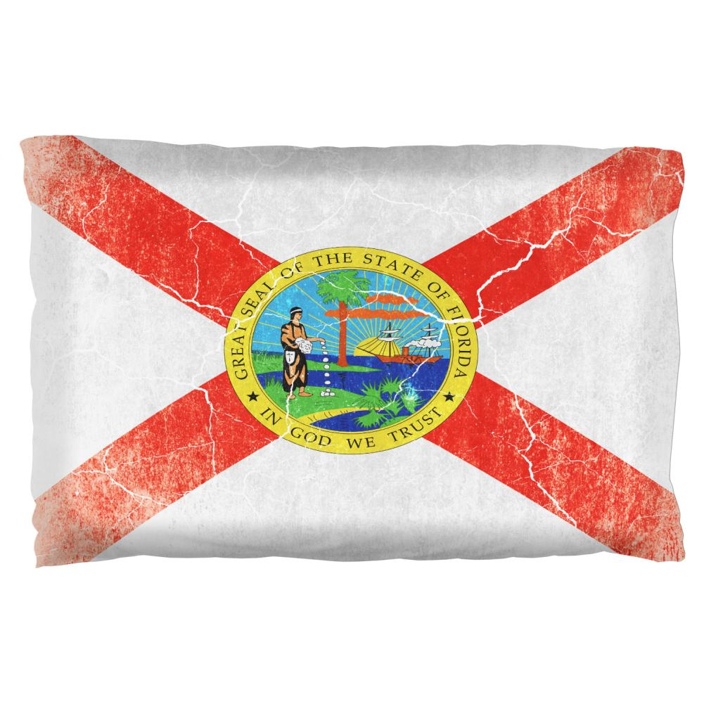 Florida Vintage Distressed State Flag Pillow Case Old Glory