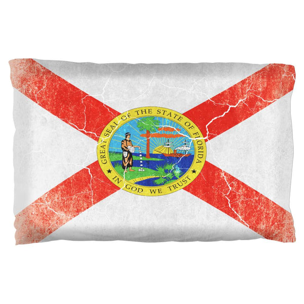 Florida Vintage Distressed State Flag Pillow Case