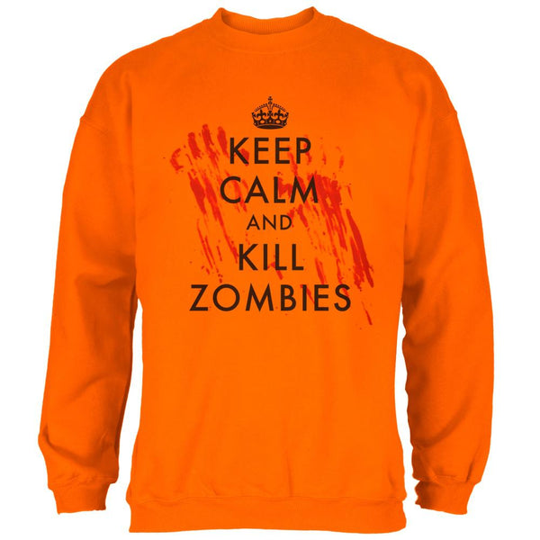 ba610fbd Keep Calm and Kill Zombies Mens Sweatshirt