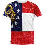 Georgia Vintage Distressed State Flag All Over Mens T Shirt