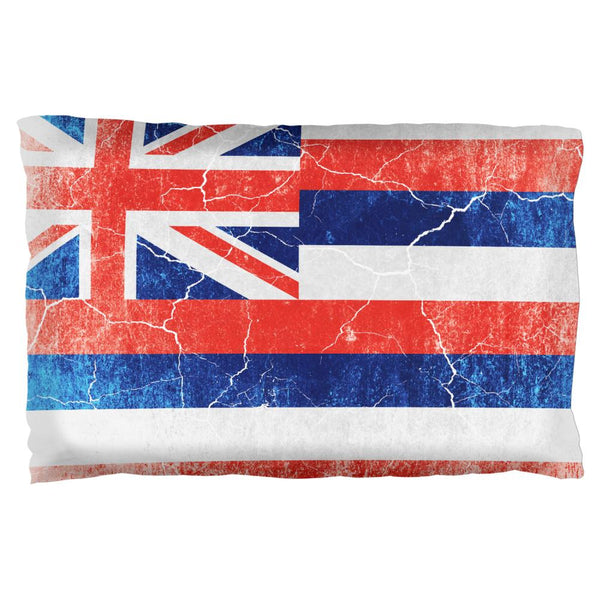 Hawaii Vintage Distressed State Flag Pillow Case