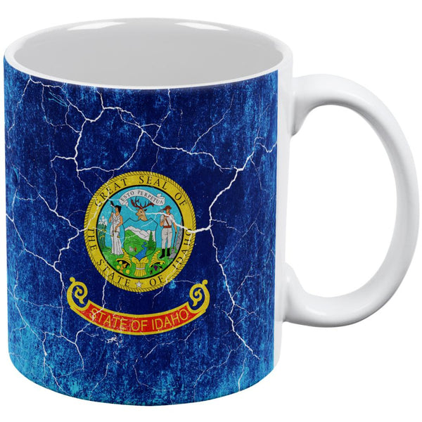Idaho Vintage Distressed State Flag All Over Coffee Mug