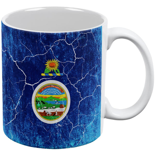 Kansas Vintage Distressed State Flag All Over Coffee Mug