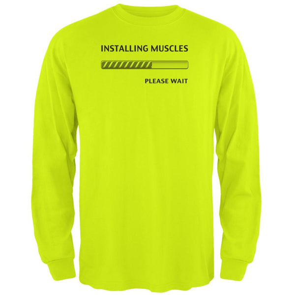 Installing Muscles Mens Long Sleeve T Shirt