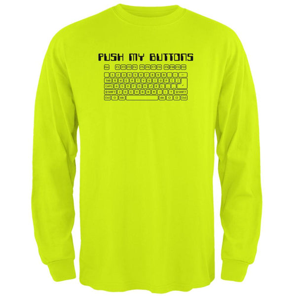 Push My Buttons Mens Long Sleeve T Shirt