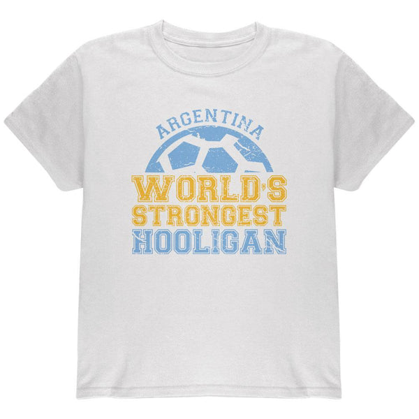 World Cup World's Strongest Hooligan Argentina Youth T Shirt