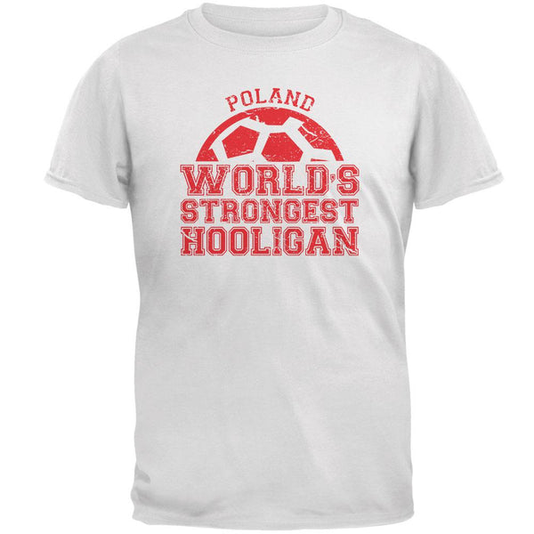 World Cup World's Strongest Hooligan Poland Mens T Shirt