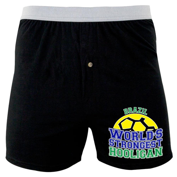 World Cup World's Strongest Hooligan Brazil Soft Knit Boxer