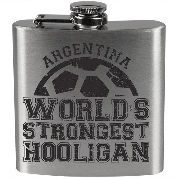 World Cup World's Strongest Hooligan Argentina Steel Flask