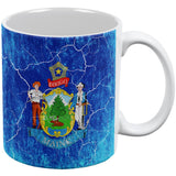 Maine Vintage Distressed State Flag All Over Coffee Mug