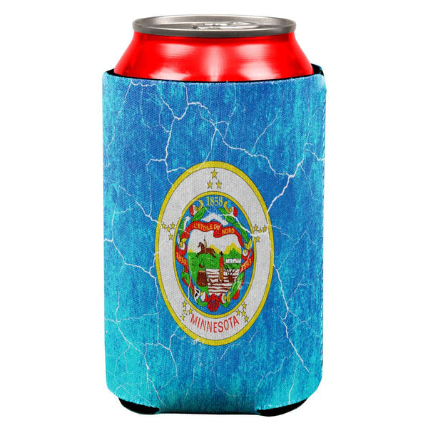 Minnesota Vintage Distressed State Flag All Over Can Cooler