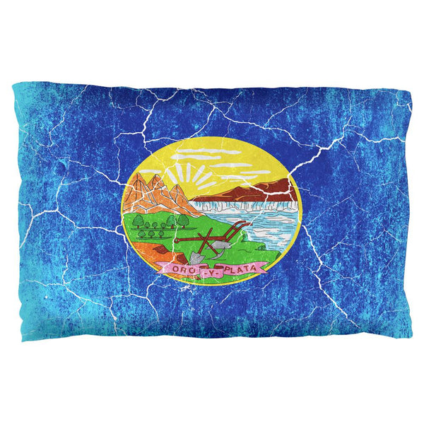 Montana Vintage Distressed State Flag Pillow Case