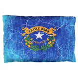 Nevada Vintage Distressed State Flag Pillow Case
